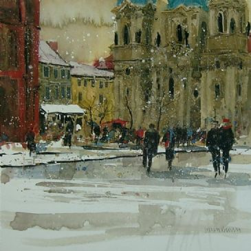 12.  limited edition giclee print   ' FEBRUARY, PRAGUE' - UNMOUNTED